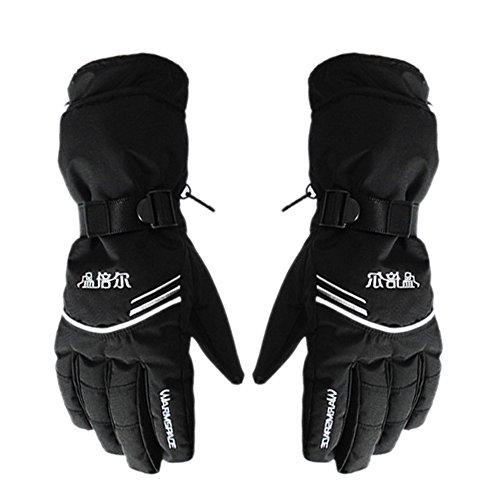 Junda Electric Heated Gloves Rechargeable Hand Warmer Waterproof Windproof Gloves Cycling Motorcycle Bicycle ( 2PCS 3800mAh Batteries Included )