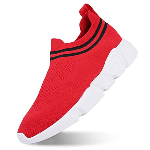 MEAYOU Women's Fashion Sneakers Walking Shoes, Men's Ultra Lightweight Breathable, Casual Athletic Running Shoes Knitted Socks - Boys Sneaker Socks