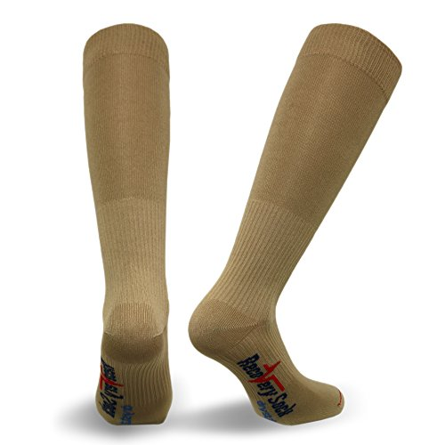 Vitalsox Recovery Patented Graduated Compression Socks with Drystat Khaki - Small - - Small Khaki Bed
