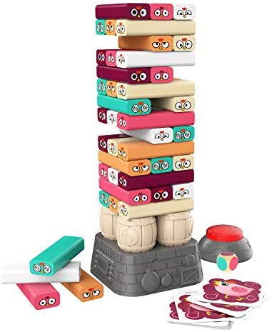 TOP BRIGHT Wooden Blocks Stacking Board Game Tumbling Tower Game for Kids Ages 4-12