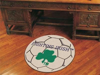 Irish Notre Dame Soccer Ball - Notre Dame Soccer Ball Rug