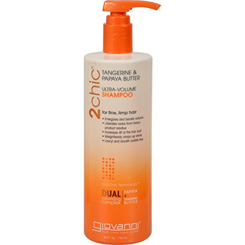 Giovanni 2chic Collection Ultra-Volume Shampoo 24 fl. oz. Tangerine & Papaya Butter Ulta-Volume Hair Care (a)