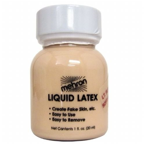 mehron Latex Liquid 1 oz - Light Flesh with Brush (Latex Special Effects)