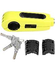 KIMISS Brake Lock,Universal Motorcycle Handlebar Brake Lever Lock Throttle Grip Anti Theft Security Lock(Yellow)