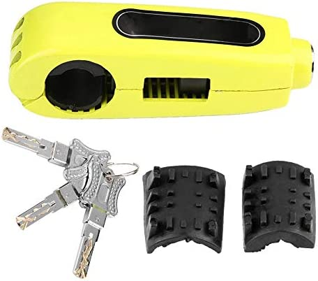 KIMISS ブレーキロック、普遍的なオートバイのハンドルバーブレーキレバーロックのスロットルグリップの反盗難保証ロック(黄色)