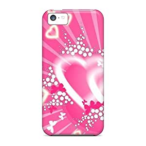 HcKjVlg6628yZesc Anti-scratch Case Cover MichelleNCrawford Protective Pink Hearts Case For Iphone 5c by Maris's Diary