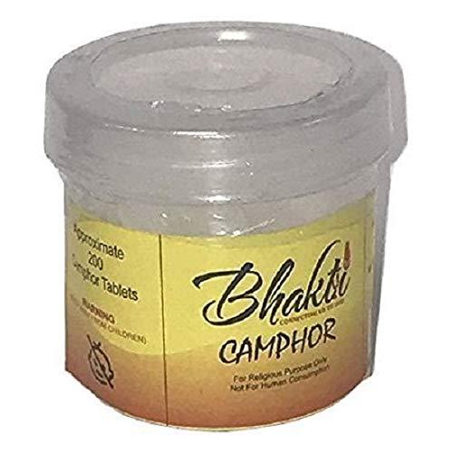 Camphor Incense - Bhakti Smokeless Camphor Blocks Tablets High Quality Refined Camphor 1.75 oz (50gm)