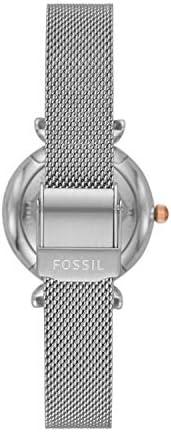 Fossil Women's Carlie Mini Stainless Steel Mesh Casual Quartz Watch WeeklyReviewer