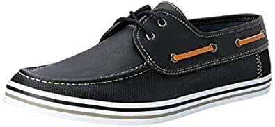 Wild Rhino Men's Davis Boat Shoes, Black, 6 AU (40 EU)