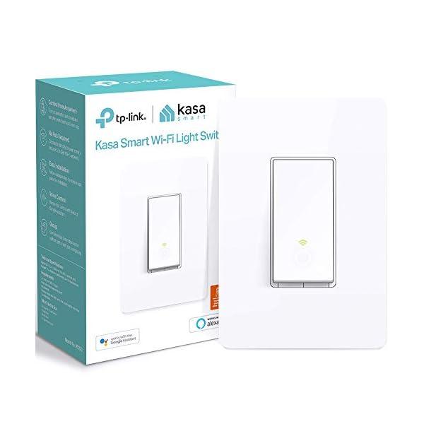 Kasa Smart HS200 Light Switch by TP-Link, Single Pole, Needs Neutral Wire, 2.4Ghz Wi-Fi Light Switch Works with Alexa… 1