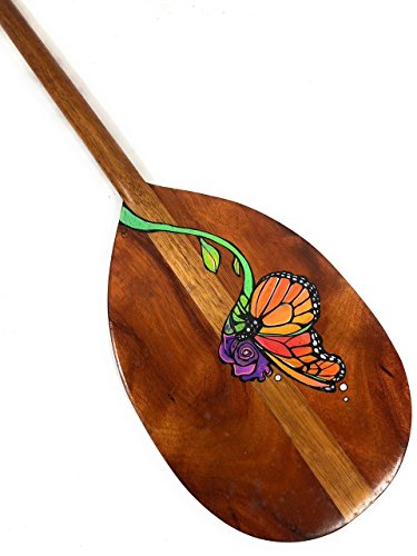 (Tikimaster Custom Painted Koa Paddle 36