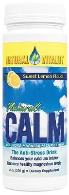 Natural Vitality Natural Calm Magnesium Anti Stress, Organic, Lemon