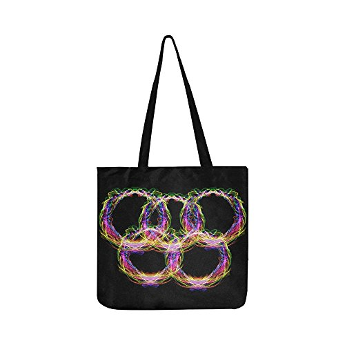 Rings Color Olympia Olympiad Circle Structure Canvas Tote Handbag Shoulder Bag Crossbody Bags Purses For Men And Women Shopping Tote