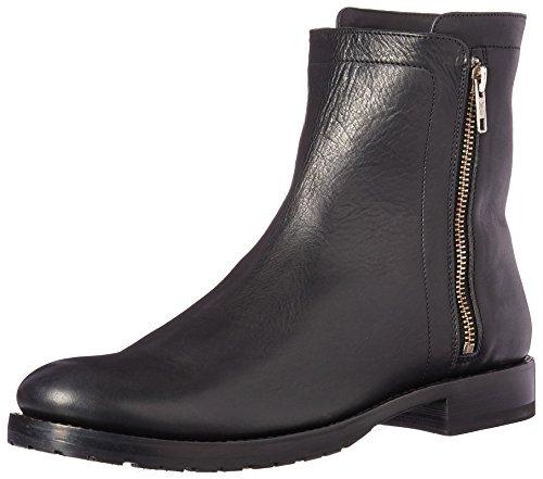 FRYE Women's Natalie Double Zip Boot, Black Polished Soft Full Grain, 8 M US - Black Polished Full Grain