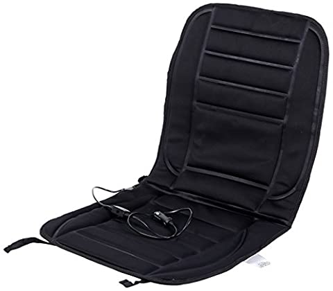 BARCOCASE 12-Volt Heated Seat Cushion Car Hot Cover Temperature Controller Auto Warmer Heater Heating Pad Black