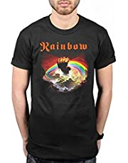 Official Rainbow Rising T-Shirt Rock Band Heavy Metal Album On Stage