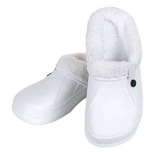 brandsseller - Zuecos de Material Sintético para mujer Blanco - blanco