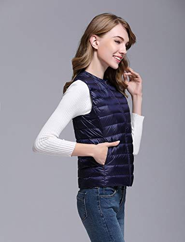 Gilet Warmer Navy Blue Women's Outdoor Ultralight Down Body Vest BELLOO Winter 8TAOnxOf