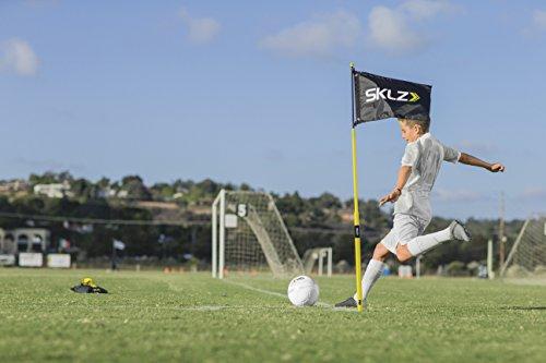 Sklz respaldarse de futbolista y entrenador de paso - amarillo, tamaño 4