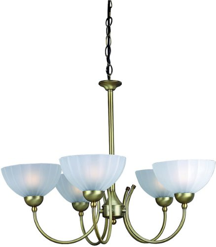 Lite Source LS-14155BRZ/FRO Alani 5-Lite Ceiling Lamp, Bronze with Frosted Glass