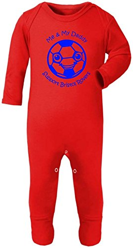 Hat-Trick Designs Bristol Rovers Football Baby Romper Sleep Suit-Choice Of 11 Colours-Me /& My-Unisex Gift