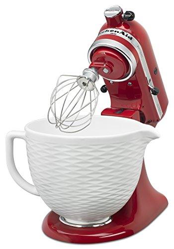 KitchenAid 5-Qt. Tilt-Head Textured Ceramic Bowl - White Chocolate