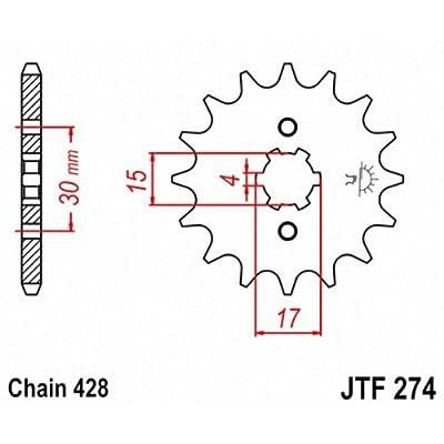 JT Sprockets JTF274.15 15T Steel Front Sprocket: Automotive