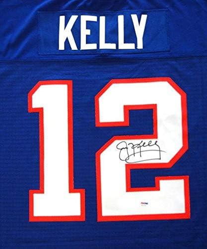 Buffalo Bills Jim Kelly Autographed Blue Mitchell & Ness Jersey ...