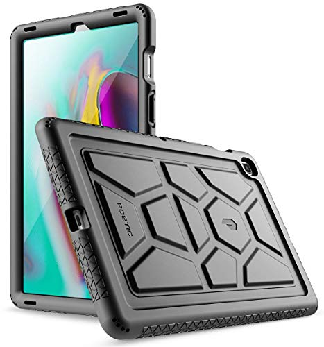 Galaxy Tab S5E Case, Poetic Heavy Duty Shockproof Kids Friendly Silicone Case Cover, TurtleSkin Series, for Samsung Galaxy Tab S5E 10.5 Inch (SM-T720/T725) 2019 Release, Black