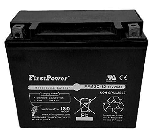 FirstPower YTX20L-BS for Kawasaki KZ1000-E ST,Shaft (Kawasaki Kz1000 Shaft)