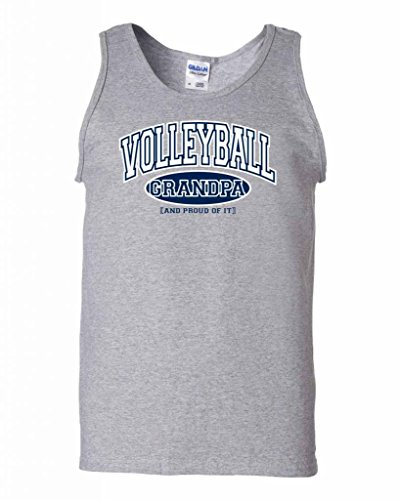 Fair Game Volleyball Dad and Proud of It Tank Top-Ash-Small
