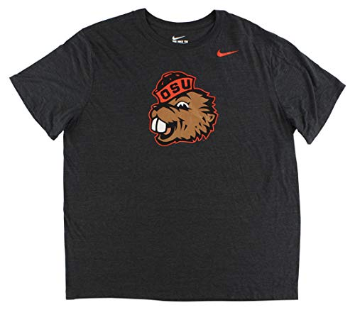 Nike Charcoal Texas Longhorns - Nike Mens Oregon Beavers Tri Blend Logo T Shirt Charcoal Grey XXL