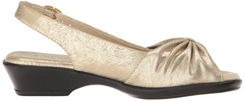 Easy Heeled Soft Fantasia Women's Gold Sandal Street rPaxRrc