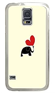 Samsung Galaxy S5 Love Baby Elephant PC Custom Samsung Galaxy S5 Case Cover Transparent
