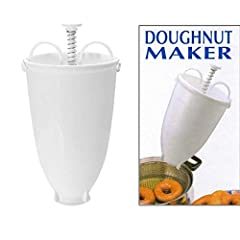 "Material: plastic Color: white Size: diameter: 9.5 cm/3.74""; height: 18 cm/7.09"". Packages: 1 x Donut Maker"