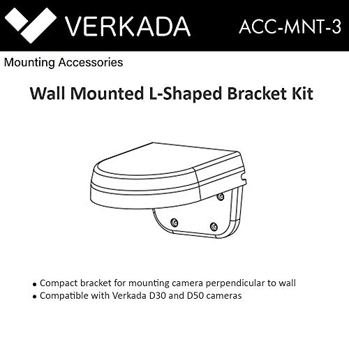 (Verkada L-Bracket Mount Kit Acc-MNT-3 Compatible with D30 and D50 Cameras)