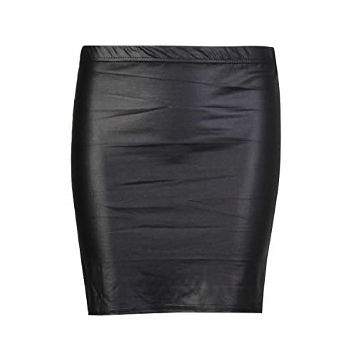New Forever Womens Plain Wetlook Skirts In Different Styles supplier