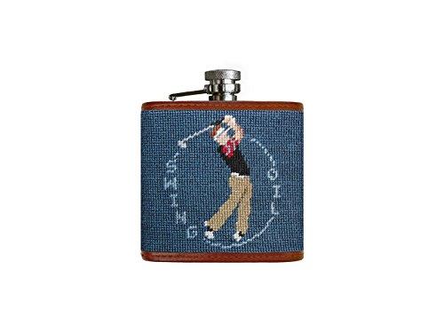 Swing Oil Needlepoint Flask
