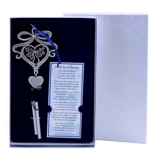 Mooney Tunco A Gift from Heaven Pewter Memorial Wind Chime