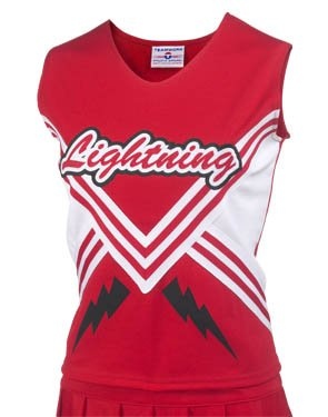 Teamwork Adult Shout Cheer Shell with Trim & Contrasting Side Panels (Small)