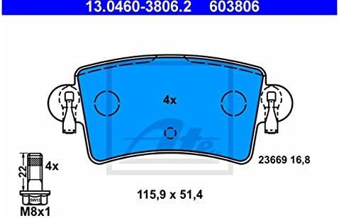 ATE 13.0460-3806.2 4x Bremsbel/äge hinten