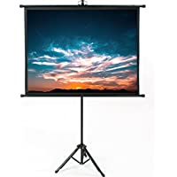 VIVO 50 Portable Indoor Outdoor Projector Screen, 50 Inch Diagonal Projection HD 4:3 Projection Pull Up Foldable Stand Tripod (PS-T-050B)