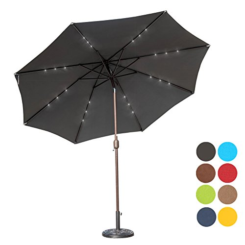 Led Umbrella Amazon: Sundale Outdoor 10 Ft Solar Powered 24 LED Lighted Patio