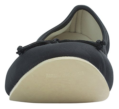 Sweet Holic Womens Neoprene Comfort Ballet Flat w Portable bag Black C61ieWv