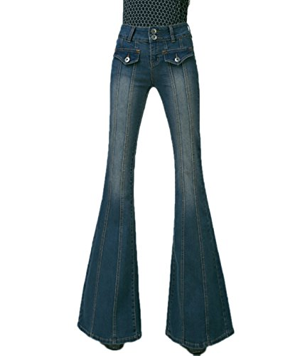 Bell Bottom Low Waist Fitted Denim Flare Jeans ()