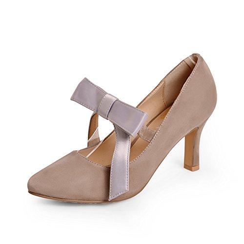 Mode Schleife Schuhen Süßen mit Absätzen Schuhe mit Einer im Hohen Gut Frühling TH7nCq1TW