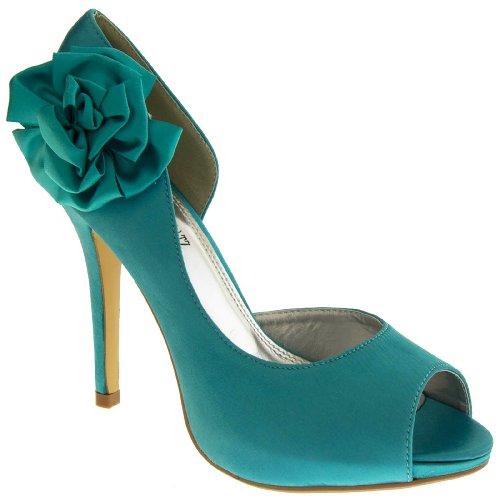 Footwear Studio - punta abierta mujer Verde Trullo