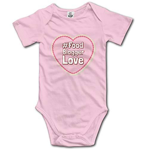 Baby Bodysuit Food Blogger Love Infant Toddler Climbing Short-Sleeve Onesie Jumpsuit 18M Pink -