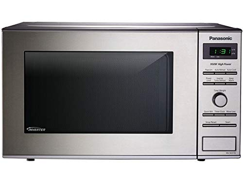 Panasonic NN-SD372S Small Countertop Microwave Oven - With Inverter Technology- Stainless Steel - 0.8 Cu. Ft. 950W (Silver) (Renewed)