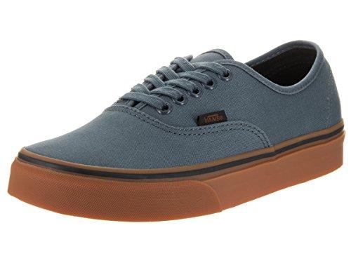 Vans Unisex Authentic (Gum) Dark Slate/Black Skate Shoe 5